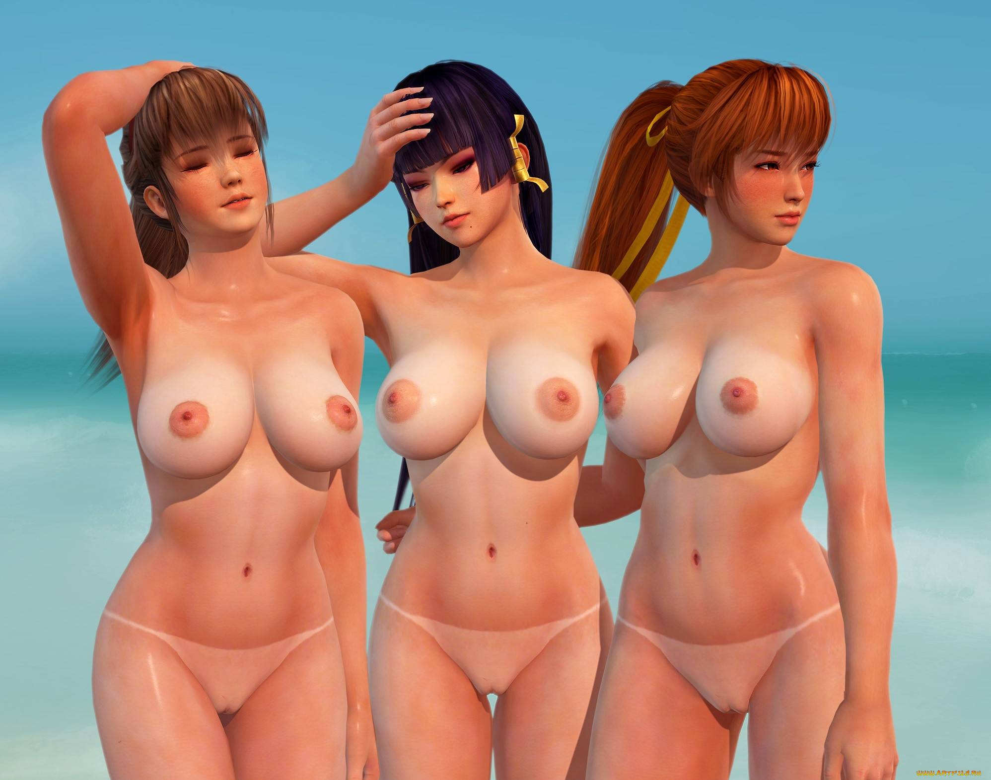 Naked girls try to distract games